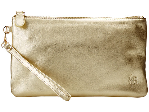 Mighty Purse - Cow Leather Charging Wristlet (Gold Shimmer) Handbags