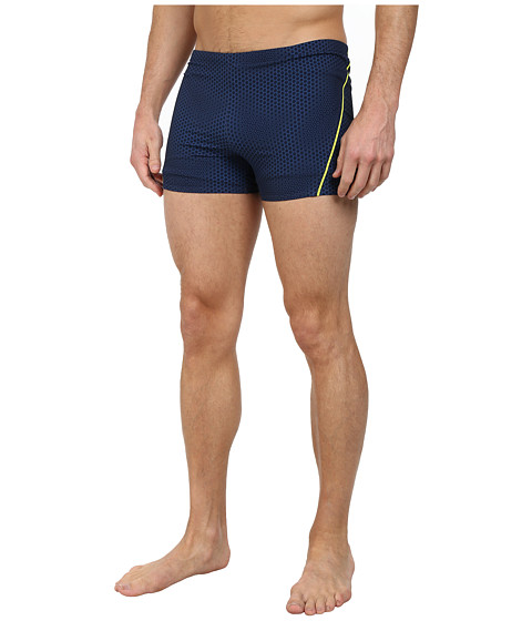 Speedo - Mini Hexagon 4-Way Square Leg Bottoms (New Navy) Men