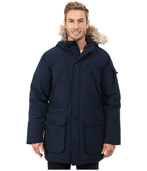 Penfield - Hoosac Hooded Down Mountain Parka (Navy) Men's Coat