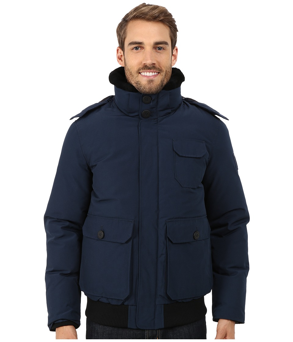Penfield - Hanford Hooded Shearing Collar Jacket (Navy) Men's Coat