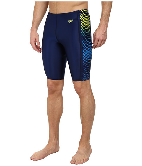 Speedo - Diamond Blend Jammer Bottoms (Blue/Green) Men's Swimwear