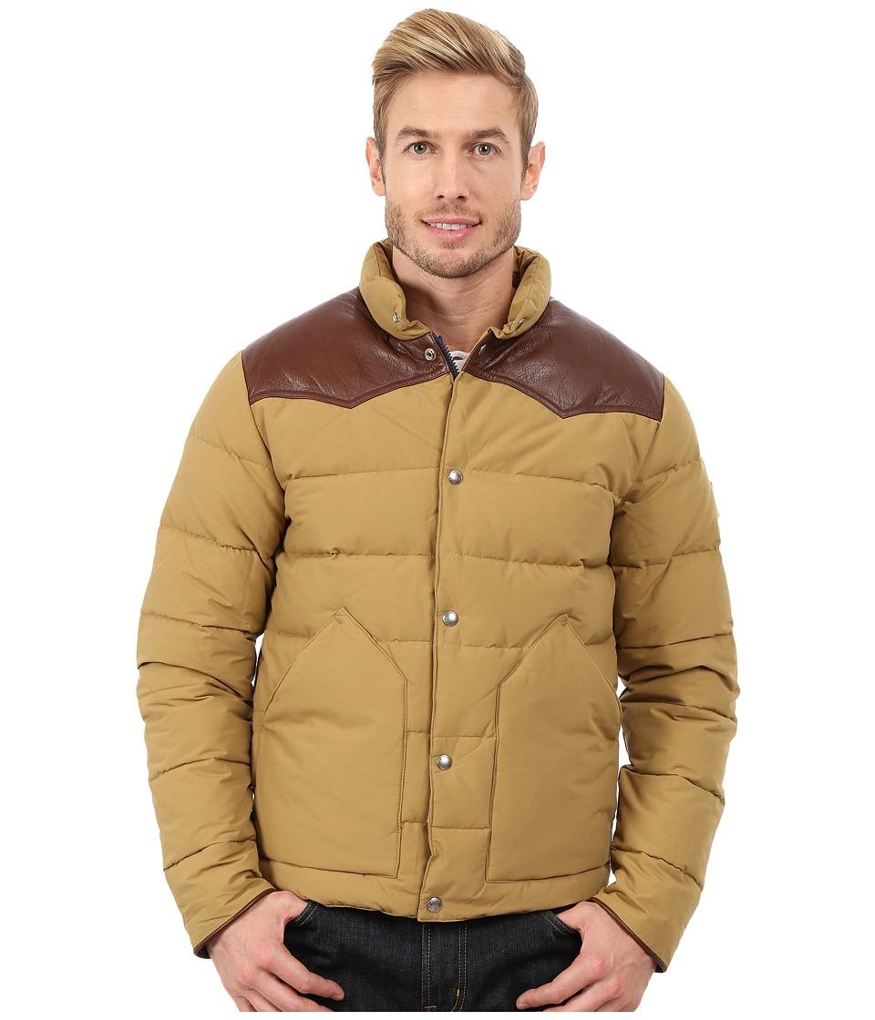 Penfield - Pelam Leather Yoke Down Jacket (Tan) Men's Coat