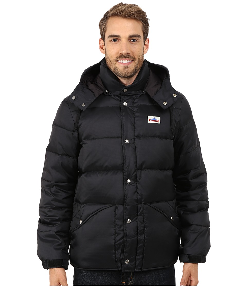 Penfield - Bowerbridge Down Insulated Hooded Jacket (Black) Men's Coat