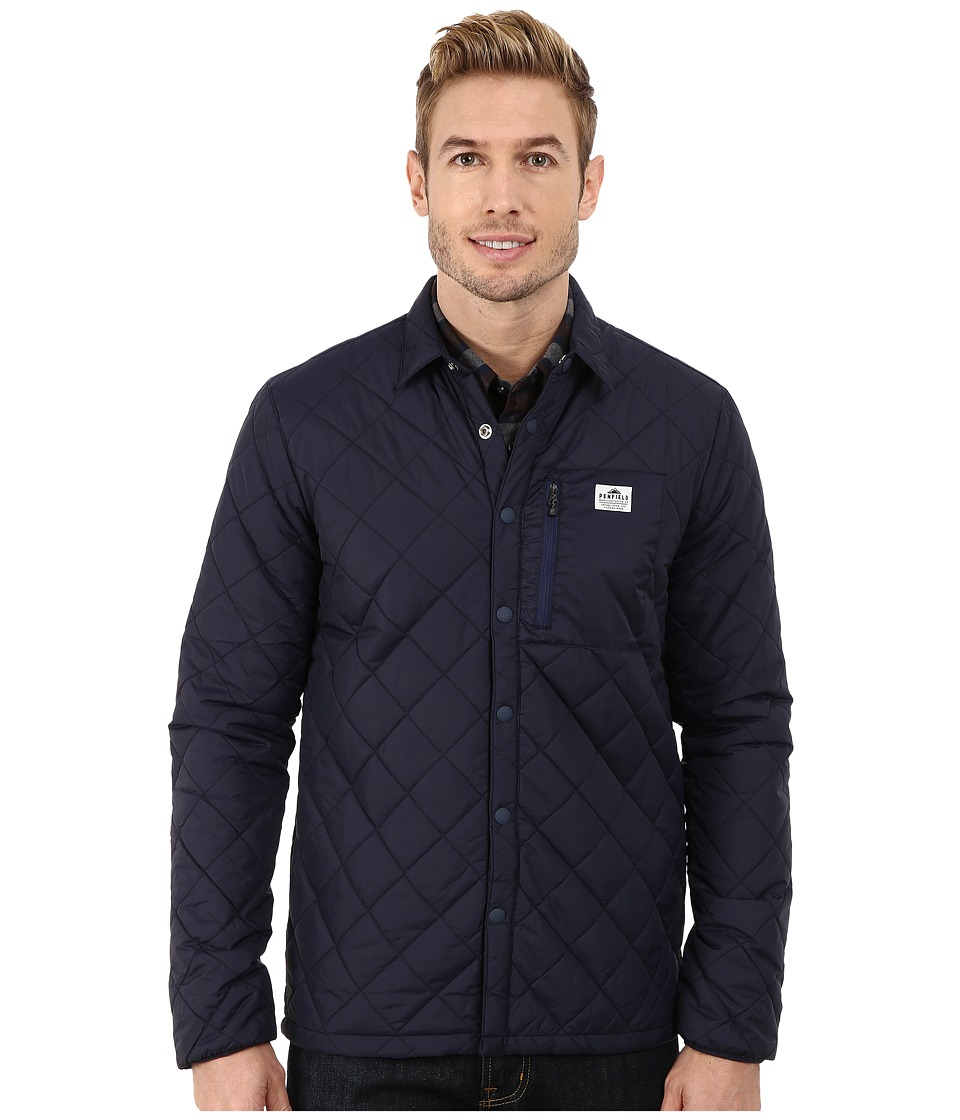Penfield - Courtland Quilted Shirt Jacket (Navy) Men's Coat