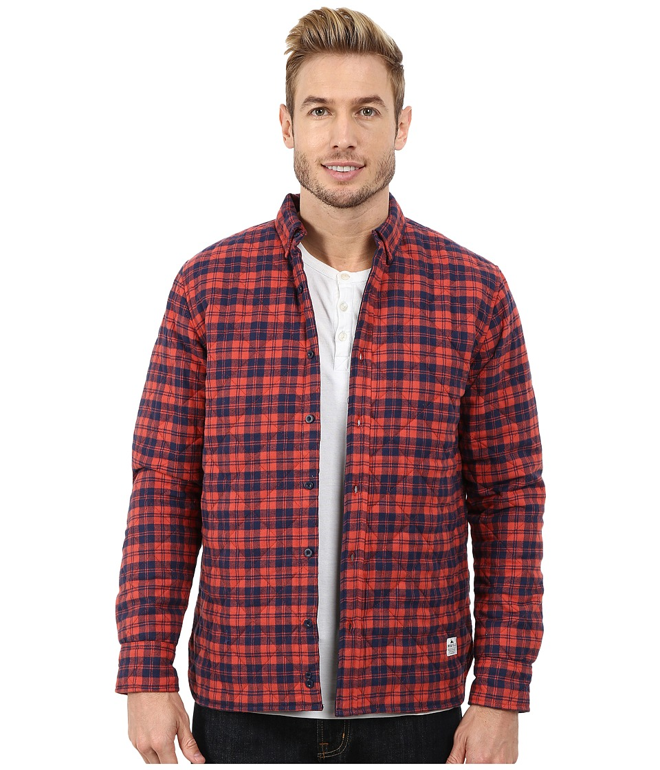Penfield - Kemsey Quilted Long Sleeve Shirt (Red) Men's Long Sleeve Button Up
