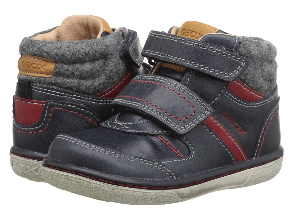 Geox Kids - B Flick Boy 34 (Toddler) (Dark Navy/Red) Boy