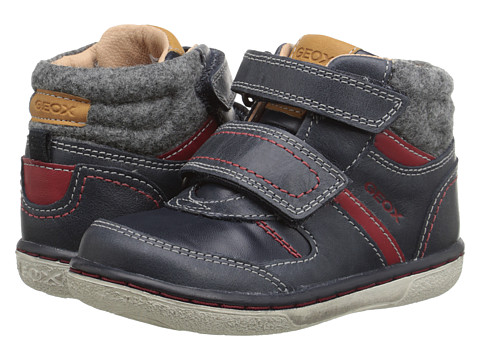Geox Kids - B Flick Boy 34 (Toddler) (Dark Navy/Red) Boy's Shoes