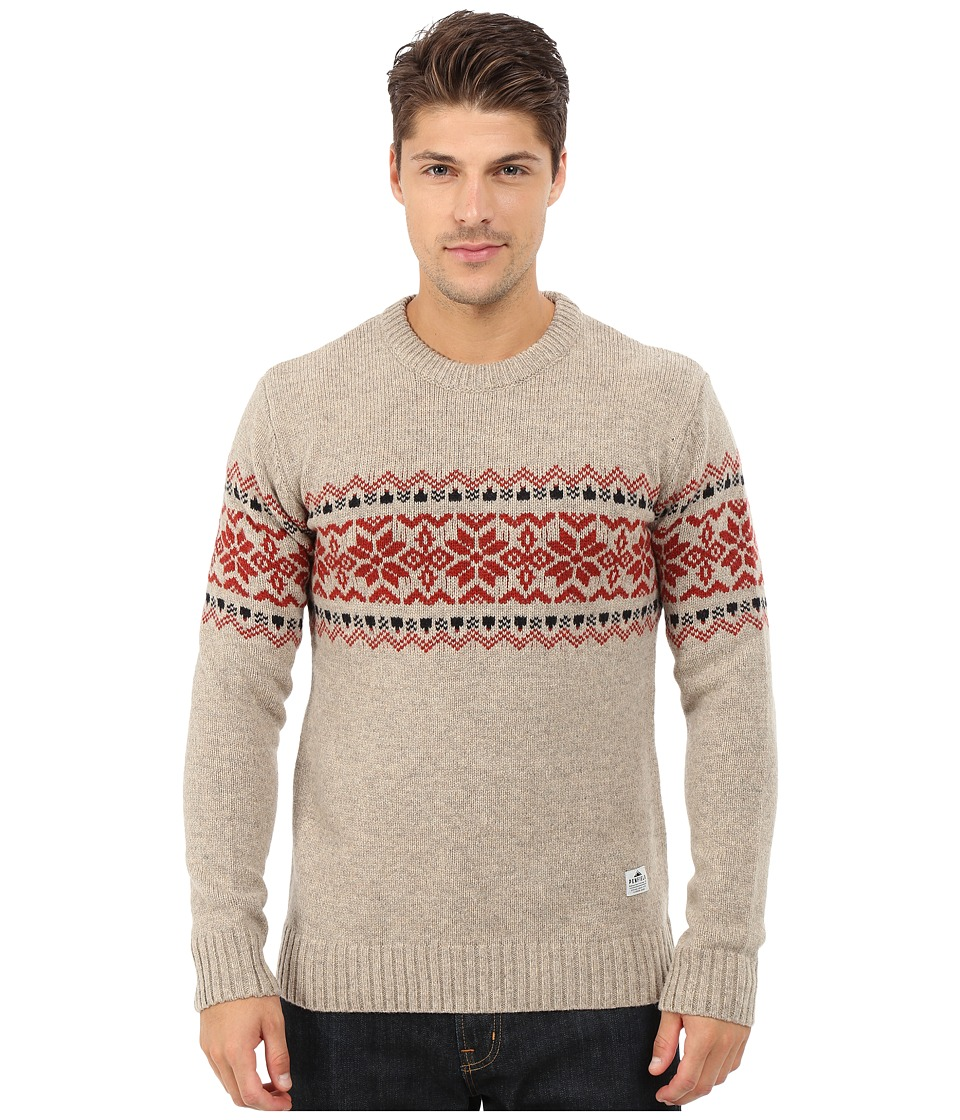 Penfield - Hickman Snowflake Crew (Oatmeal) Men's Sweater