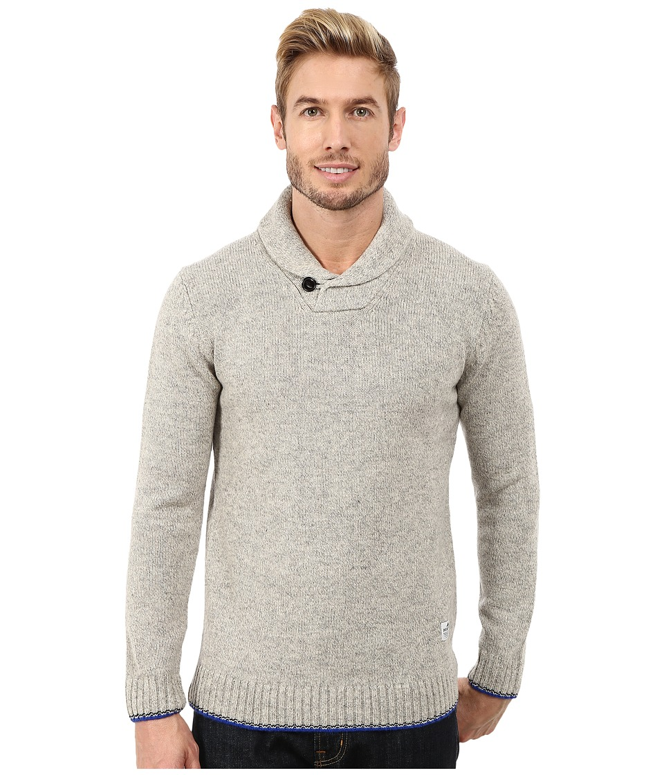 Penfield - Harlington Two-Tone Melange Shawl (Grey) Men's Sweater
