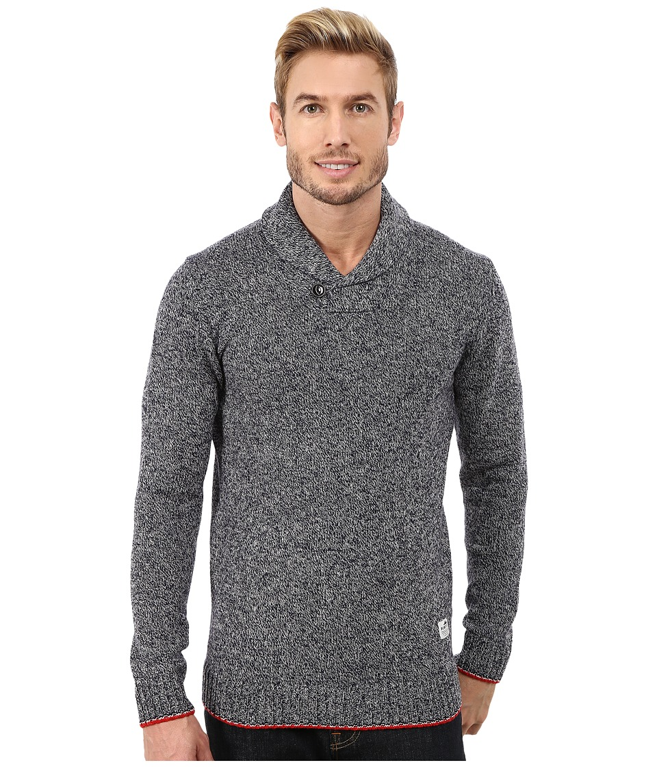 Penfield - Harlington Two-Tone Melange Shawl (Navy) Men's Sweater