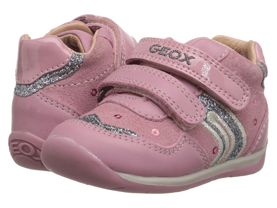 Geox Kids - B Each Girl 2 (Infant/Toddler) (Dark Pink/Silver) Girl's Shoes