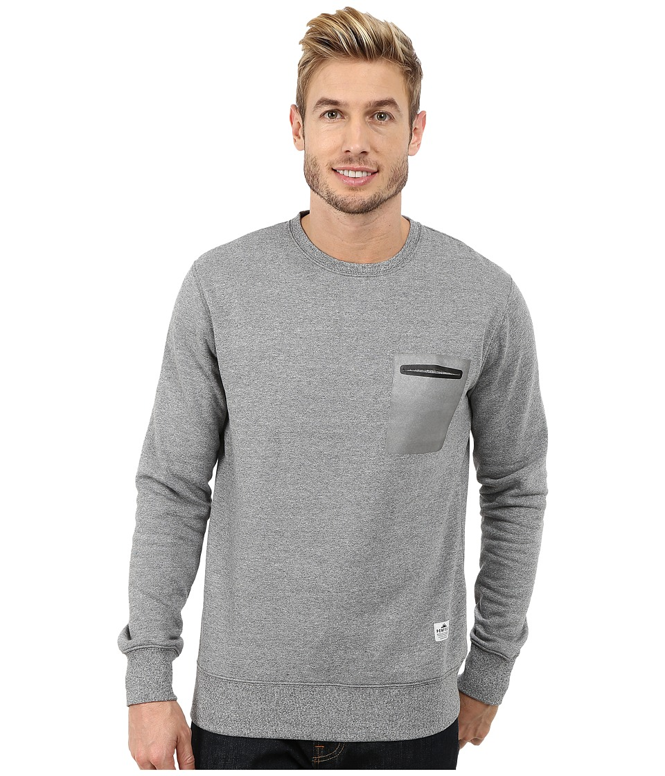 Penfield - Kendrick Reflective Pocket Crew Neck Sweatshirt (Grey) Men's Sweatshirt