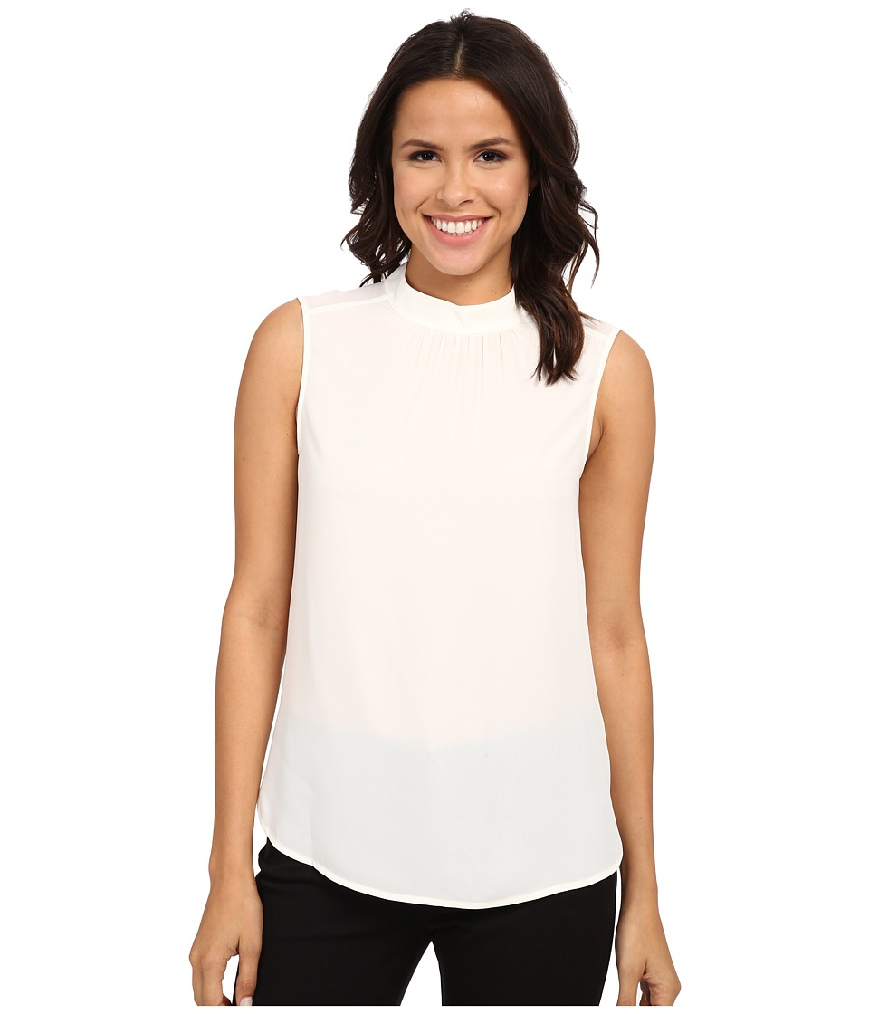 NYDJ - Mock Neck Shell Top (Vanilla) Women's Sleeveless