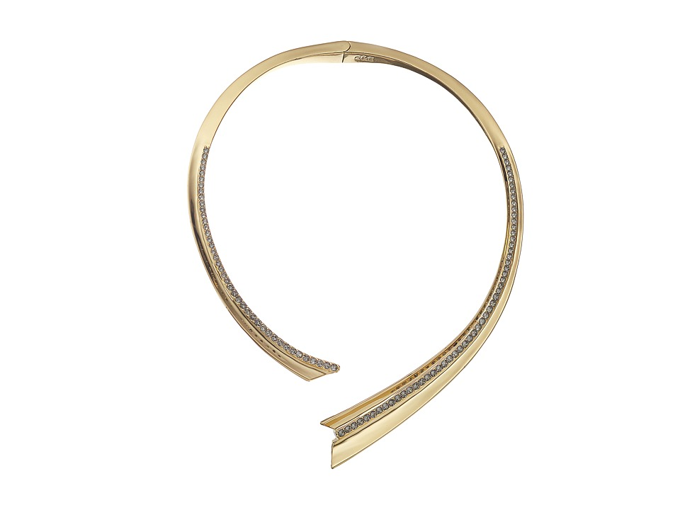 Giles & Brother - Ray Pave Collar (Gold Finished Brass/Black Diamond Crystal Pave) Necklace