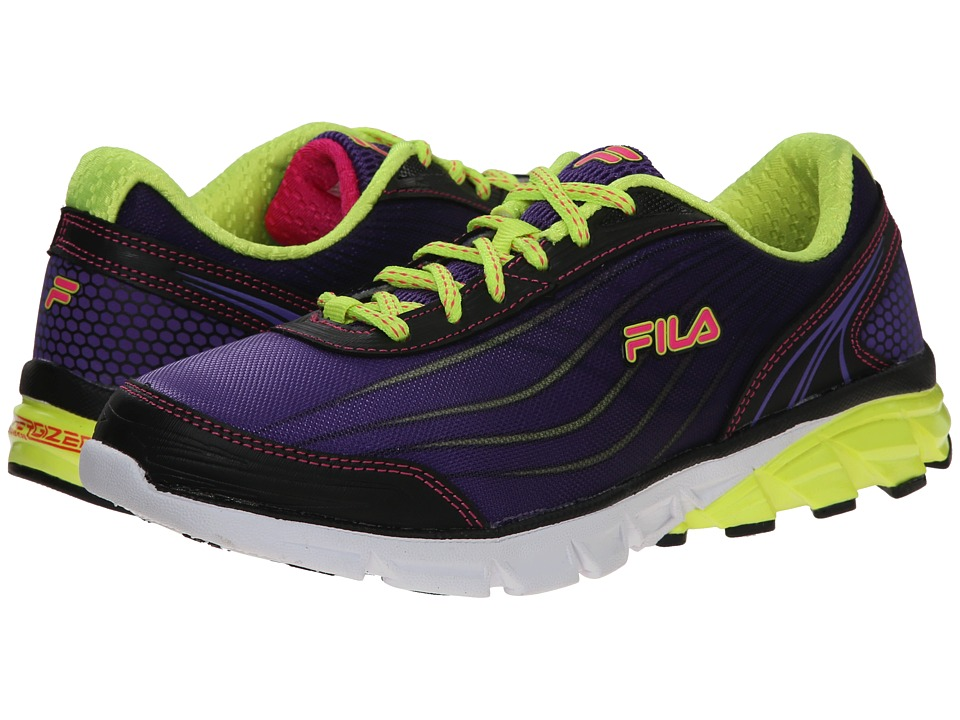 Fila - Head Of The Pack Energized (Electric Purple/Pink Gloxinia/Safety Yellow) Women's Shoes