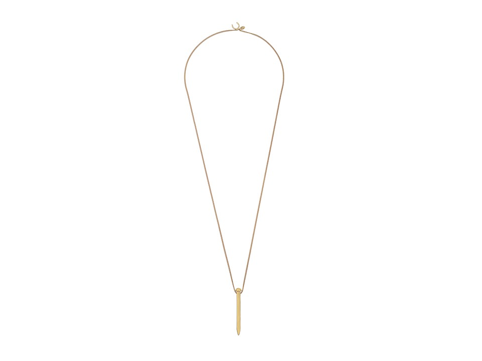 Giles & Brother - Railroad Spike Pendant Necklace (Gold Finished Brass) Necklace