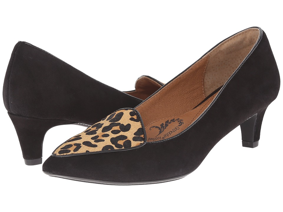 Sofft Varney (Black/Natural Leopard Print King Suede/Hair) High Heels