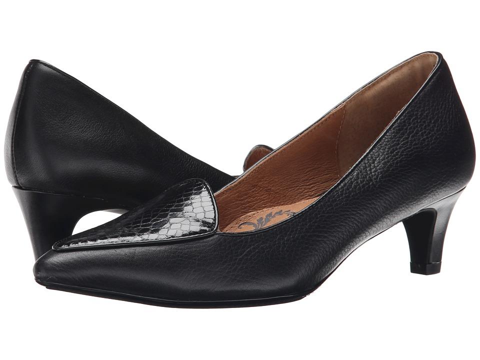 Sofft Varney (Black Venice/Snake Print) High Heels