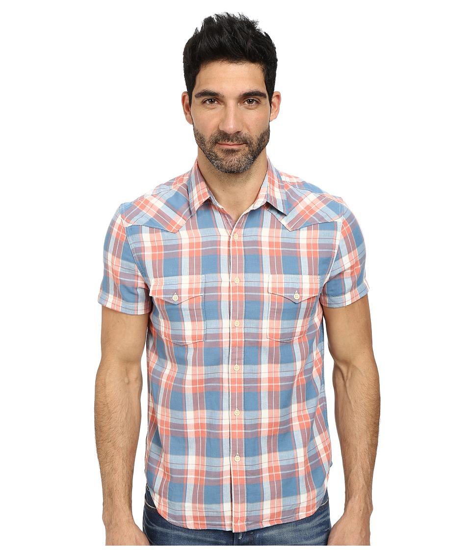 Lucky Brand - Dry Creek Western Shirt (Blue/Red) Men
