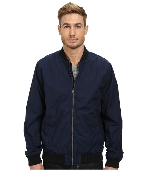 Lucky Brand - Canvas Bomber (Black Iris) Men's Clothing