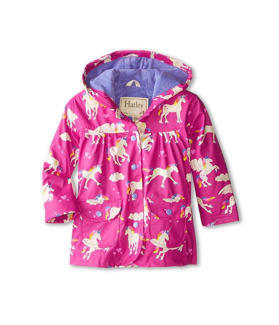 Hatley Kids - Unicorns Rainbows Raincoat (Toddler/Little Kids/Big Kids) (Pink) Girl's Coat