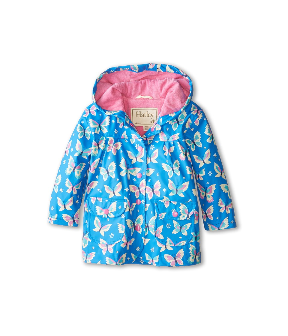 Hatley Kids - Icy Butterflies Raincoat (Toddler/Little Kids/Big Kids) (Blue) Girl's Coat