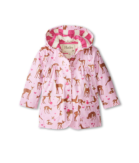 Hatley Kids - Soft Deers Raincoat (Toddler/Little Kids/Big Kids) (Pink) Girl's Coat
