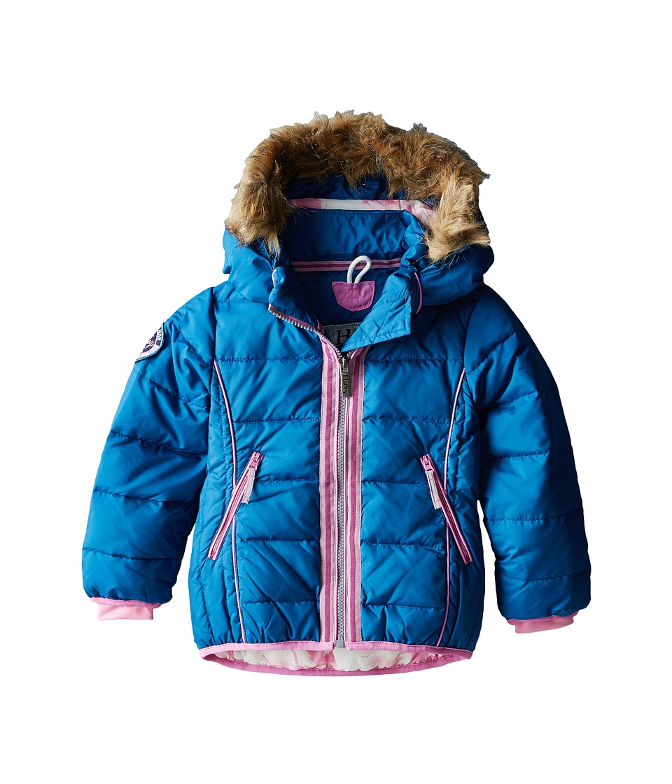 Hatley Kids - Running Horses Down Filled Jacket (Toddler/Little Kids/Big Kids) (Blue) Girl's Coat