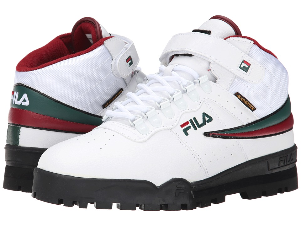 Fila - F-13 Weather Tech (White/Sycamore/Biking Red) Men's Shoes