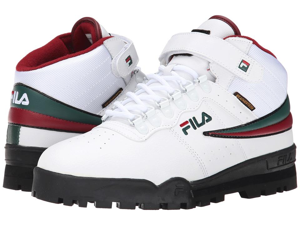 Fila - F-13 Weather Tech (White/Sycamore/Biking Red) Men's Shoes