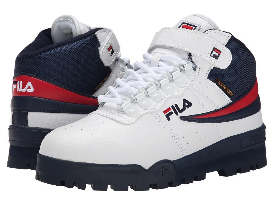 Fila - F-13 Weather Tech (White/Fila Navy/Fila Red) Men's Shoes