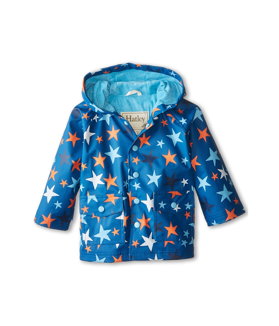 Hatley Kids - Stars In Space Raincoat (Toddler/Little Kids/Big Kids) (Blue) Boy's Coat
