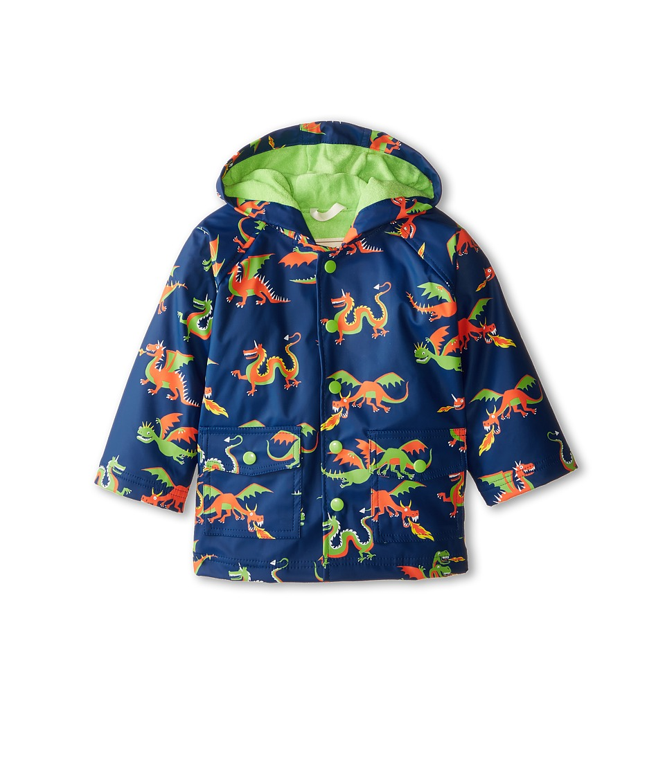 Hatley Kids - Dragons Raincoat (Toddler/Little Kids/Big Kids) (Blue) Boy's Coat
