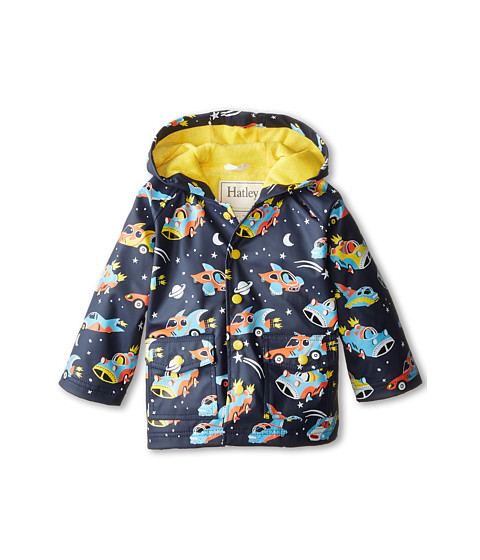 Hatley Kids - Space Cars Of The Future Raincoat (Toddler/Little Kids/Big Kids) (Blue) Boy's Coat