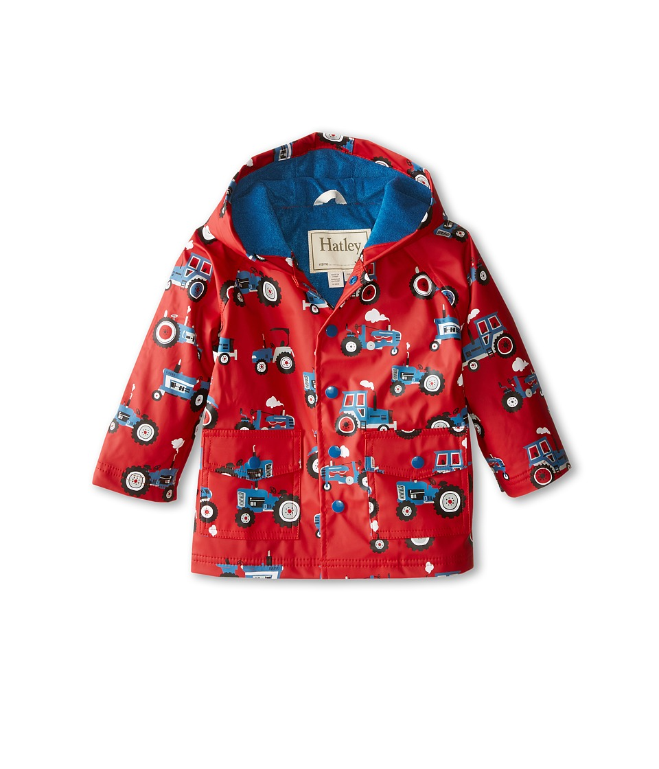 Hatley Kids - Farm Tractors Raincoat (Toddler/Little Kids/Big Kids) (Red) Boy's Coat