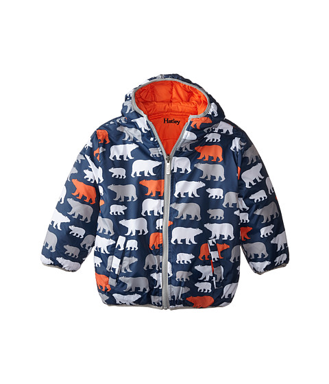 Hatley Kids - Polar Bears Reversible Winter Puffer (Toddler/Little Kids/Big Kids) (Blue) Boy's Coat