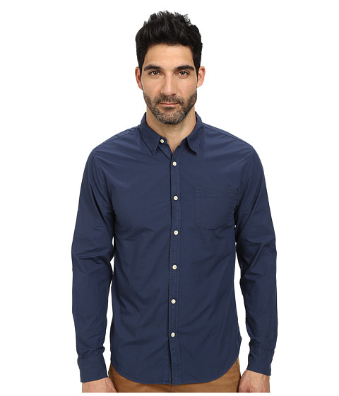 Lucky Brand - Skyline One-Pocket Shirt (American Navy) Men's Long Sleeve Button Up