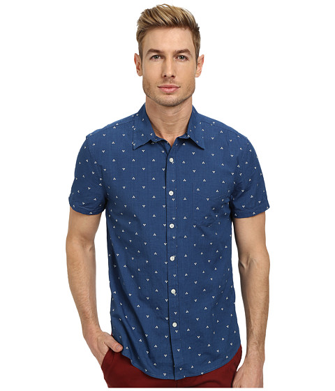 Lucky Brand - Castlerock Indigo Shirt (Blue Print) Men's Clothing