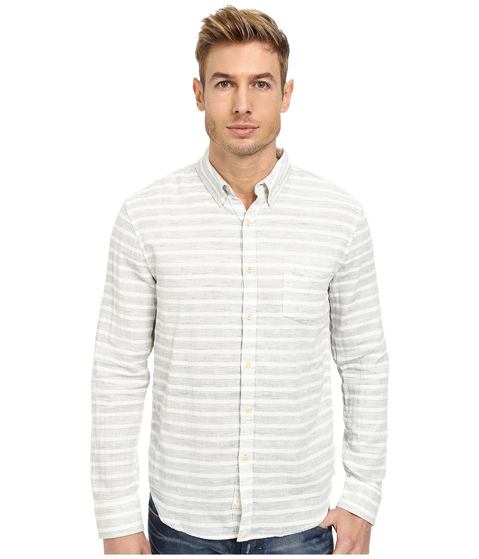 Lucky Brand - Slickrock Stripe Shirt (White/Grey) Men's Clothing