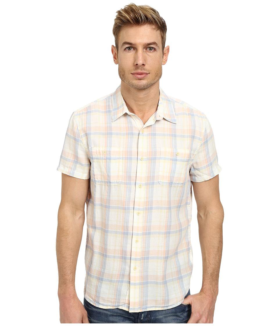 Lucky Brand - Cottonwood Two-Pocket Shirt (Natural/Blue/Yellow) Men