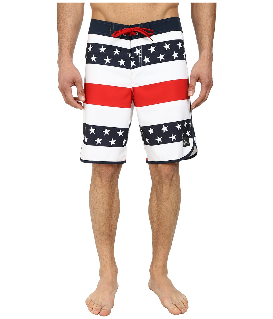 Quiksilver - 40 Oz. of July 20 Boardshorts (White) Men's Swimwear
