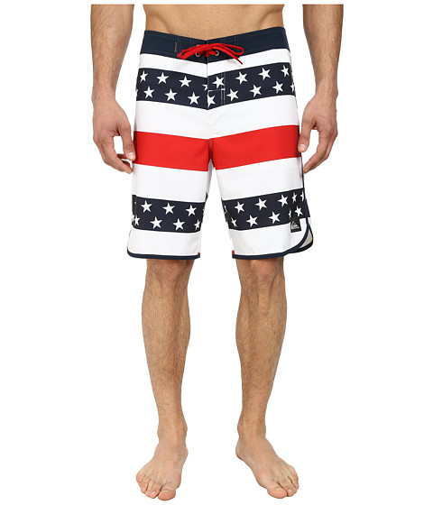 Quiksilver - 40 Oz. of July 20 Boardshorts (White) Men