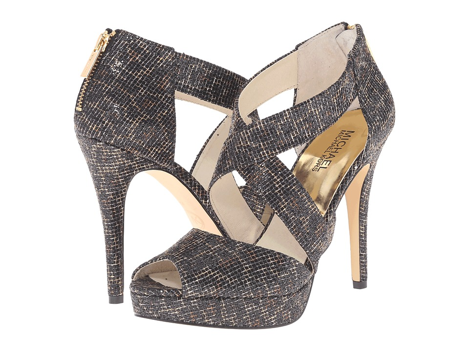 MICHAEL Michael Kors Ariel Platform (Cheetah Brown Cheetah Glitter) High Heels