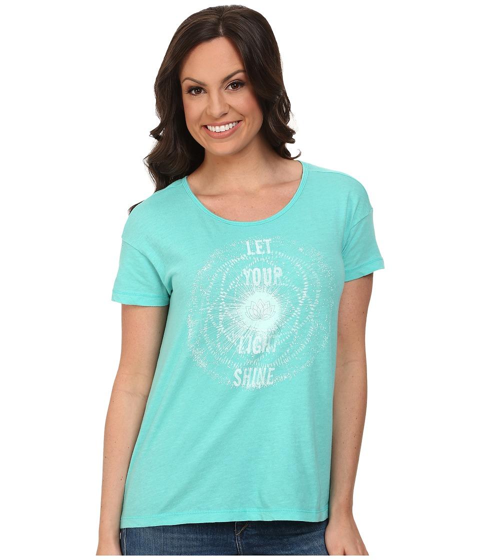 Lucky Brand - Shine Tee (Turquoise) Women's T Shirt