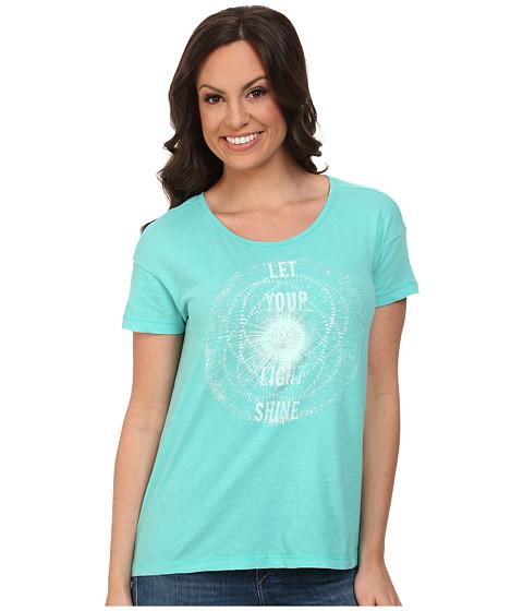 Lucky Brand - Shine Tee (Turquoise) Women