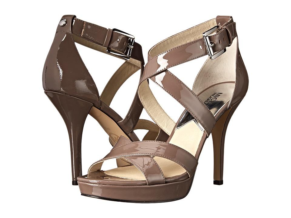 MICHAEL Michael Kors - Evie Platform (Cinder Patent) High Heels