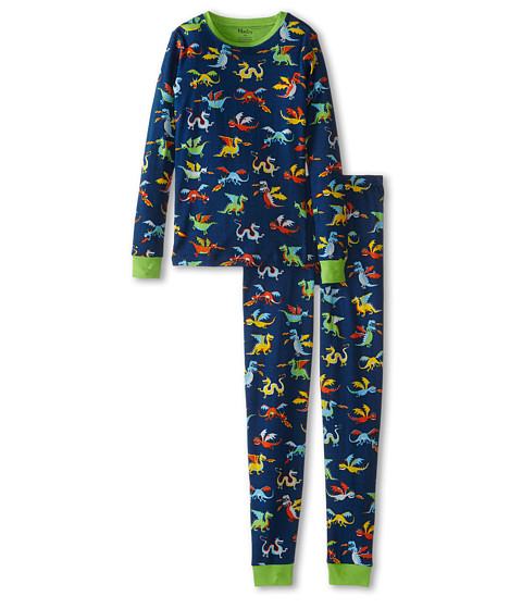 Hatley Kids - Dragons PJ Set (Toddler/Little Kids/Big Kids) (Blue) Boy's Pajama Sets