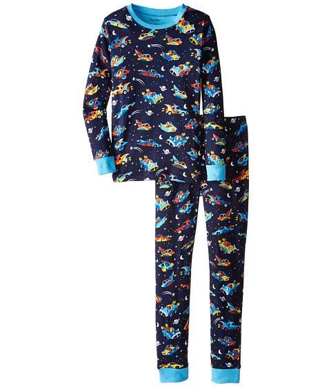 Hatley Kids - Space Cars Of The Future PJ Set (Toddler/Little Kids/Big Kids) (Navy) Boy