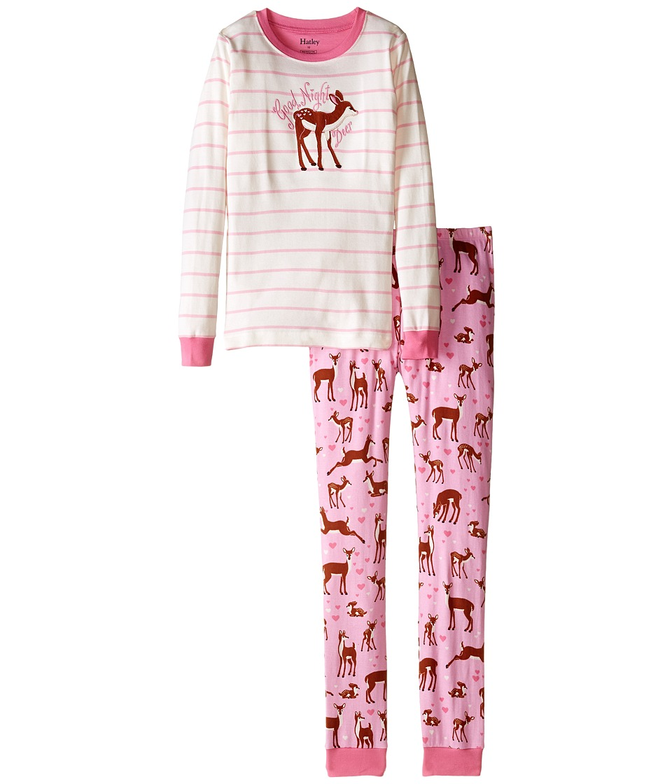Hatley Kids - Soft Deers PJ Set (Toddler/Little Kids/Big Kids) (Cream) Girl's Pajama Sets