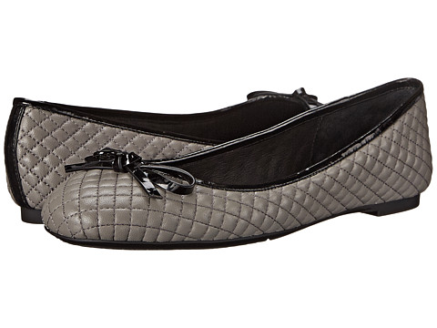 MICHAEL Michael Kors - Melody Quilted Ballet (Steel Grey Nappa) Women